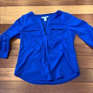 Banana republic women's blouse royal blue size XS